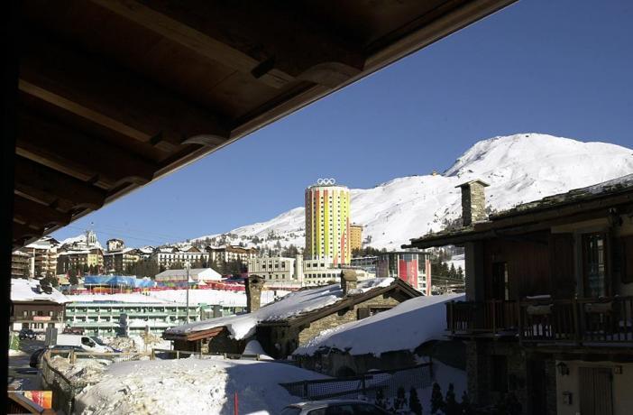 Vista sulle montagne olimpiche a Sestriere