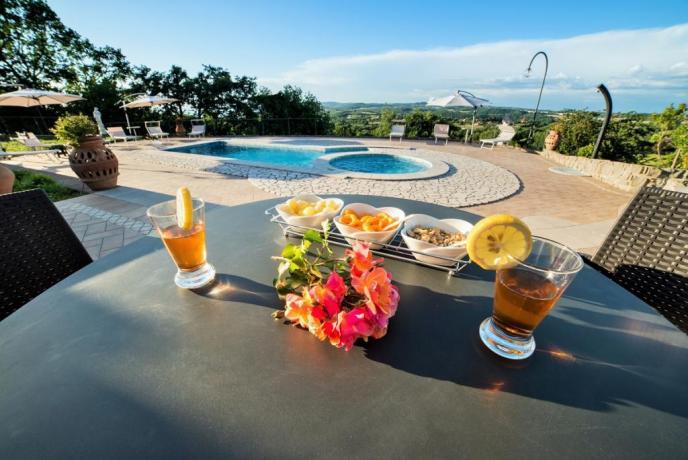 Villa con piscina idromassaggio Lago di Bolsena