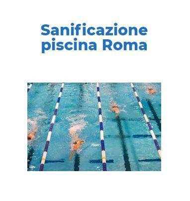 Sanificazione e Disinfezione Certificata CORONAVIRUS: PISCINA Roma
