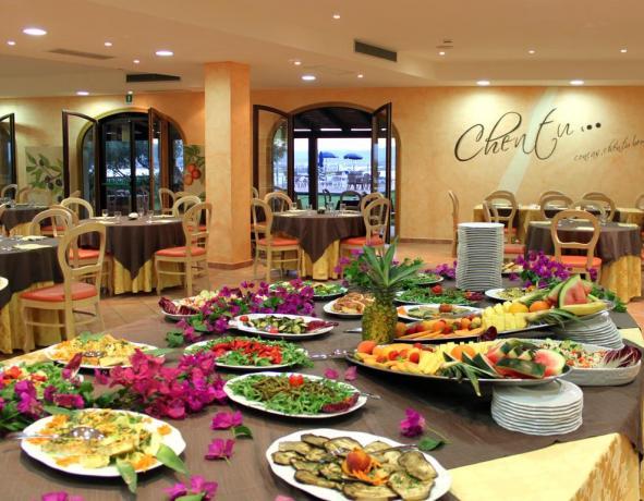 ristorante a buffet in hotel il panorama