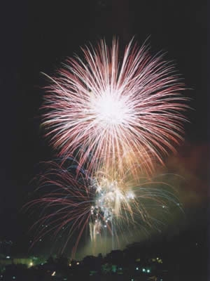 Fuochi d'artificio in Umbria