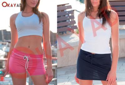 produzione pantaloncino sport donna top gonna