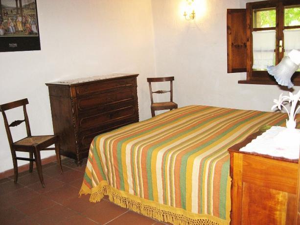Appartamento Cipresso camera matrimoniale casale castiglione-del-lago