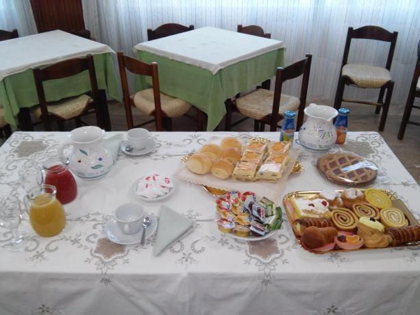 Abbondante prima colazione a buffet Hotel a Tancau