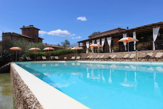 Piscina con bar albergo 5stelle Perugia Umbria