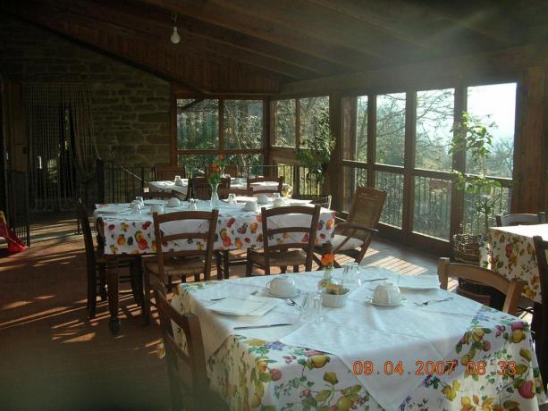 Agriturismo a Gubbio con colazione a Buffet