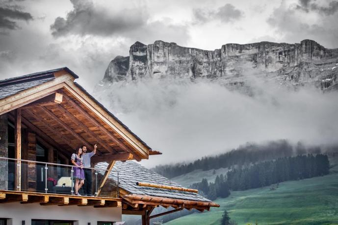 Appartamenti con balcone panoramico sulle Dolomiti