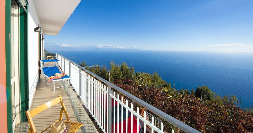 Casa vacanza vista Golfo di Salerno