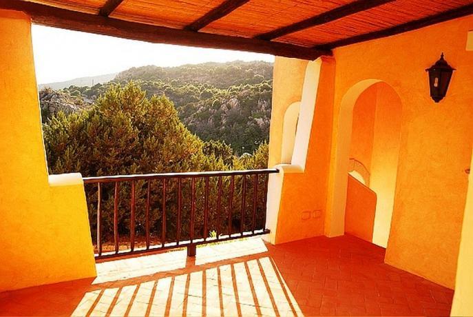 Area relax al residence di Arzachena in Sardegna
