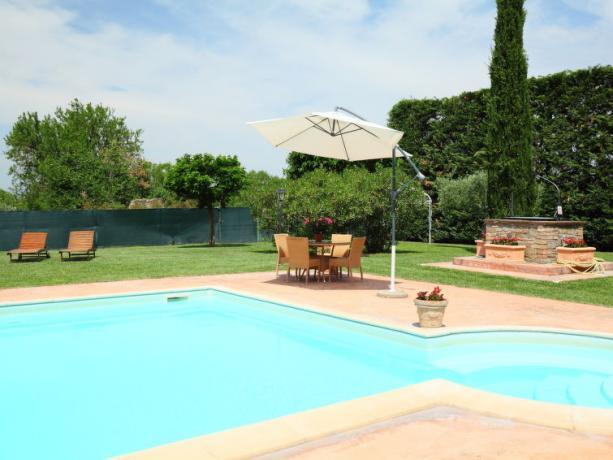 Piscina in casa Vacanza in Umbria