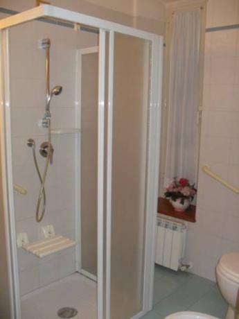 Bagno privato in camera con tutti i servizi