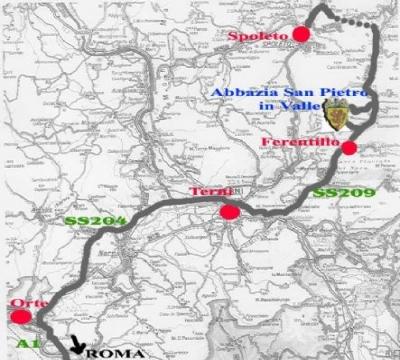 La mappa stradale