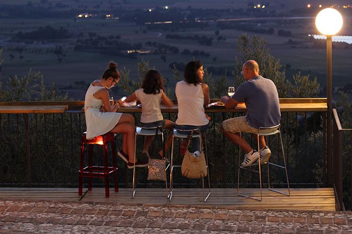 Aperitivo con vista panoramica al Castello Spoleto