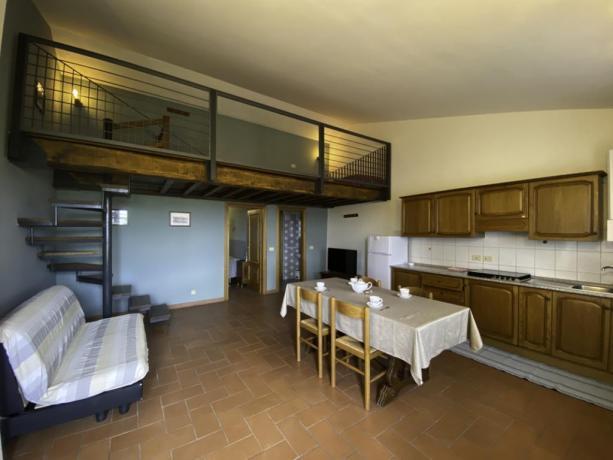 Contadino- Saladapranzo angolo cottura + divano letto