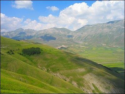 Verde vista panoramica