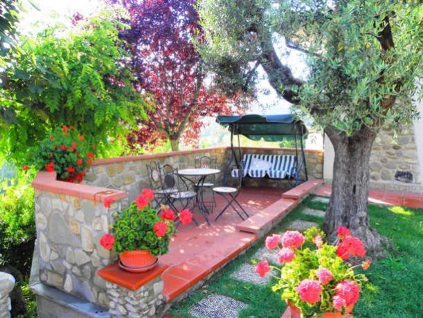 Giardino Attrezzato in Agriturismo a Gubbio Umbria