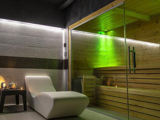 Centro benessere SPA con sauna hotel 4stelle Battipaglia