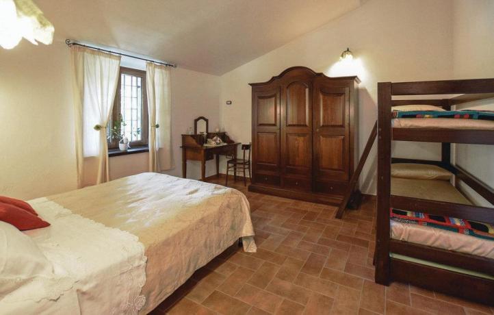 Casa vacanze a San Lupo letto a castello