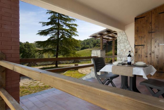 Umbria Resort: appartamenti bilocali e monolocali con giardino