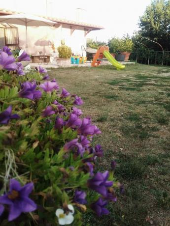 Giardino giochi bambini casa vacanze Vasanello
