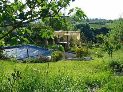 Piscina e gazebo nel giardino del BB