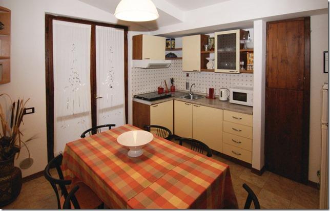 Cucina soggiorno appartamento-trilocale casale-agrituristico Magione