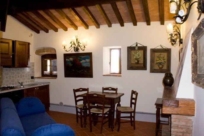 Casale vacanze appartamento 2 persone Fiordaliso Capolana-Arezzo-Toscana