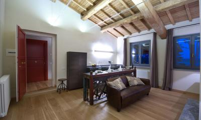 Angolo cottura e Salottino Penthouse