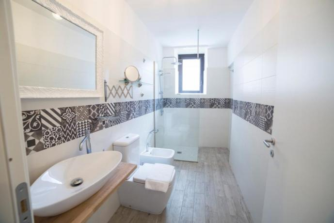 B&B Catania bagno camera familiare mazzini
