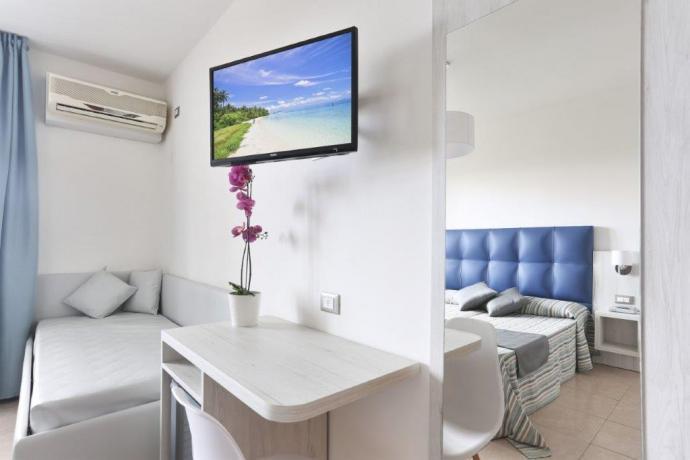 Camera spaziosa con comfort in hotel in Versilia