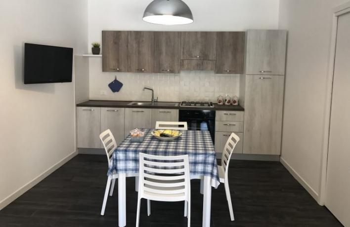 Casa vacanze Charm cucina attrezzata sala-pranzo San-Vito-lo-Capo