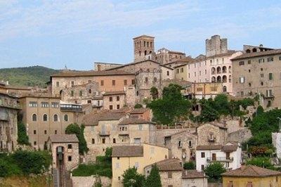 Panoramic view of Narni in Umbria