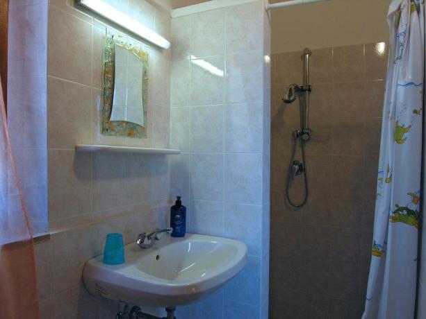 Bagno in camera agriturismo a Città della Pieve