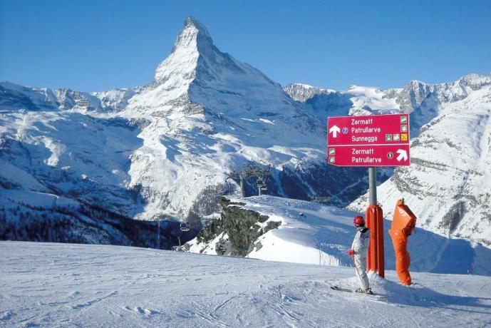 Pista sci vicino Hotel Chatrian sul Cervino