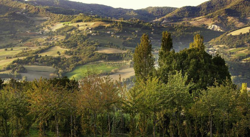 Terrazza panoramica vista sulle colline