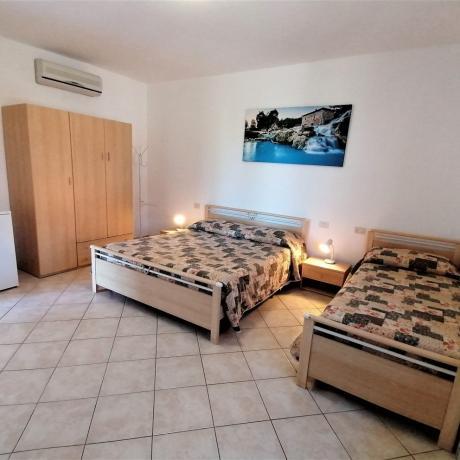 Camera tripla con letto singolo casale in Maremma-Toscana