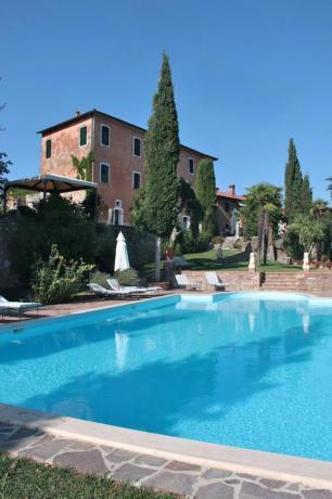 Villa di lusso Arezzo piscina solarium