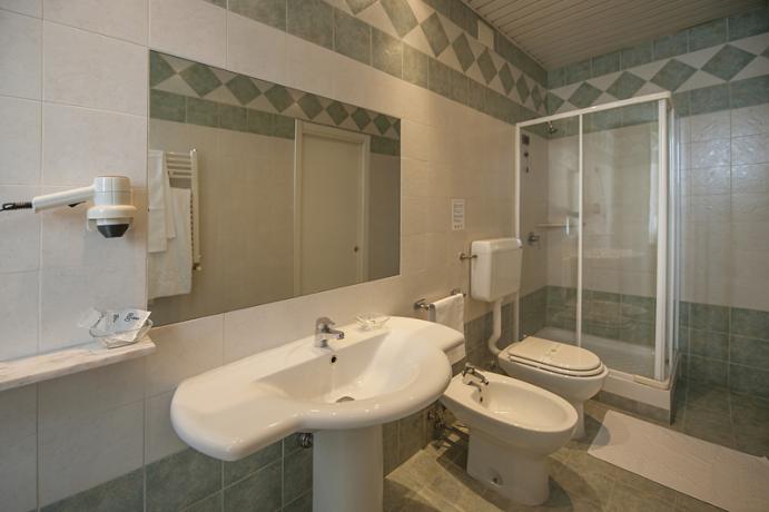 Bagno privato in camera: Albergo Porta Romana