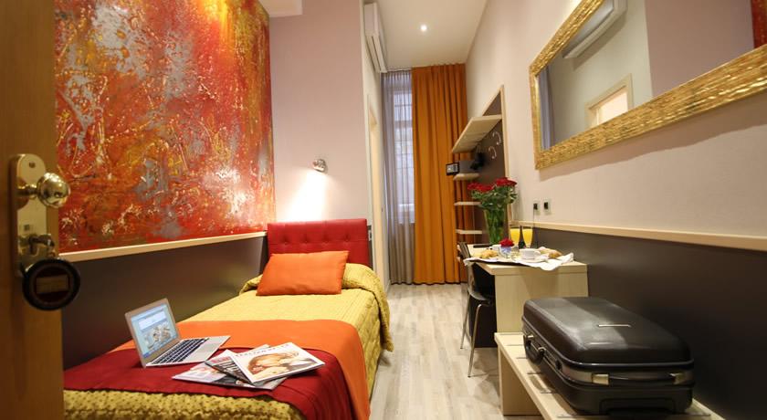 Camera singola hotel a Milano con bagno privato