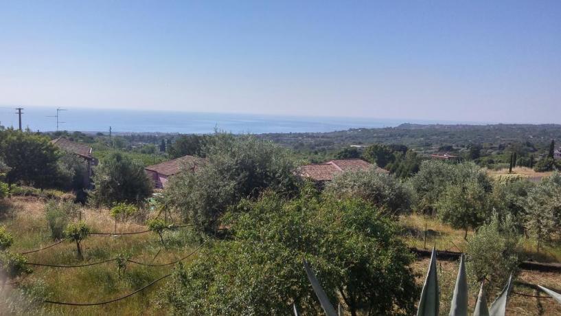 Veduta panoramica Mar Ionio a Santa Venerina