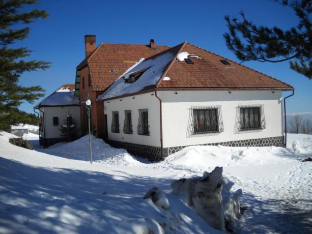 Hotel nel Parco dell'Etna in inverno