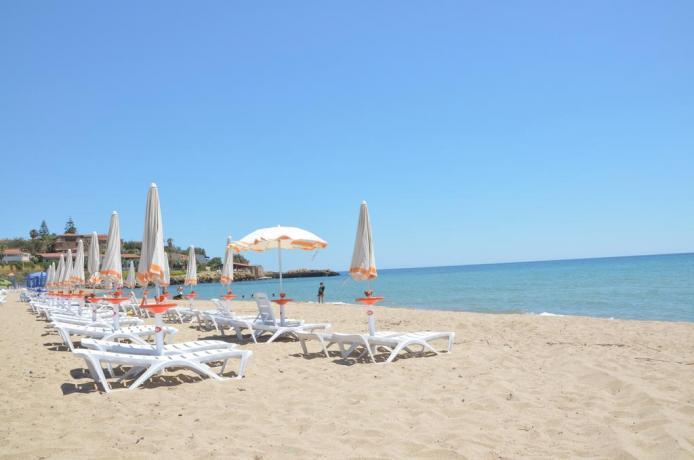 Spiaggia per bambini in hotel a capo piccolo