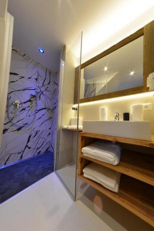 Elegante bagno camera in Chalet a S.Vigilio