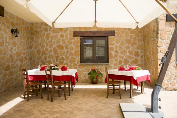 Agriturismo vicino Roma-sala ristornate esterna