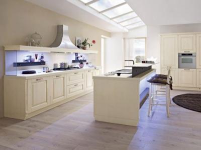 Cucina classica con penisola legno massello greta cucine - Cucine classiche con penisola ...