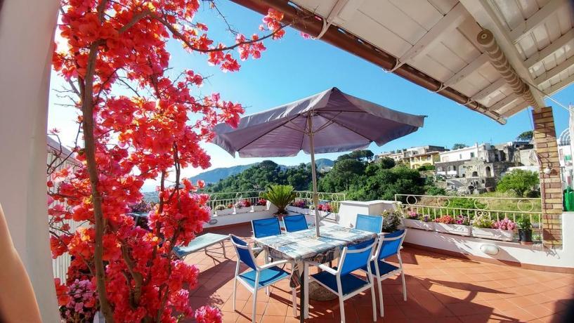 Terrazzo panoramico vista mare casa vacanze Barano d'Ischia