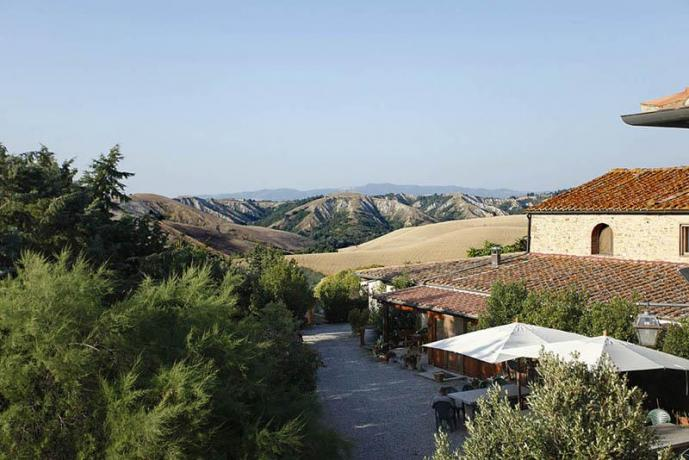 Vista panoramica della campagna Toscana