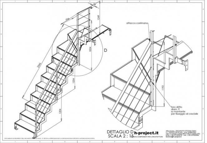 s2-d2 scala prefabbricata disegni