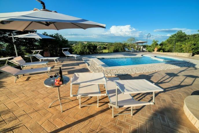 Appartamenti con piscina vista Lago di Bolsena