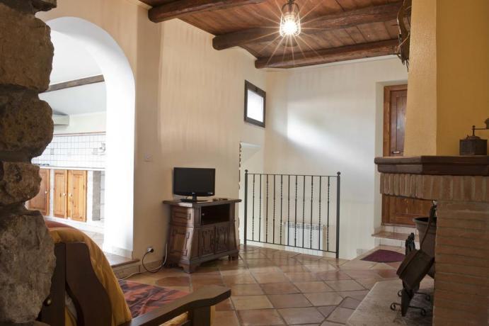 Zona soggiorno in appartamento B&B Gaeta